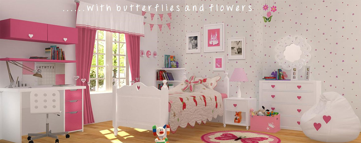 Flower n Butterfly Room