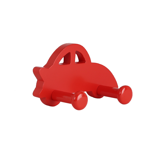 Wall Hook Car Shape Red