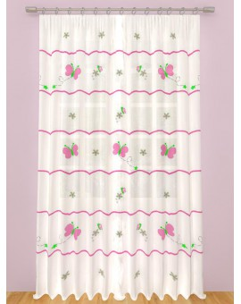 CURTAIN BUTTERFLY PLEATED