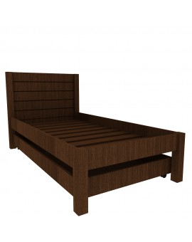 MOCHA BED WITH STORAGE