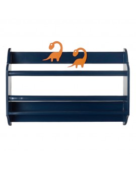 CURVED  BOOK SHELF N.BLUE