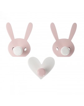 WALL HOOKS BUNNY BOO PINK