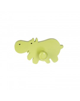 WALL HOOK :HAPPY HIPPOS GREEN