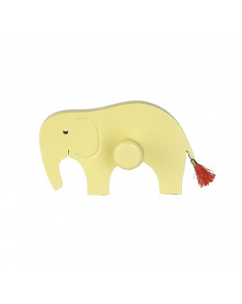 WALL HOOK: TIPPY ELEPHANT YELLOW